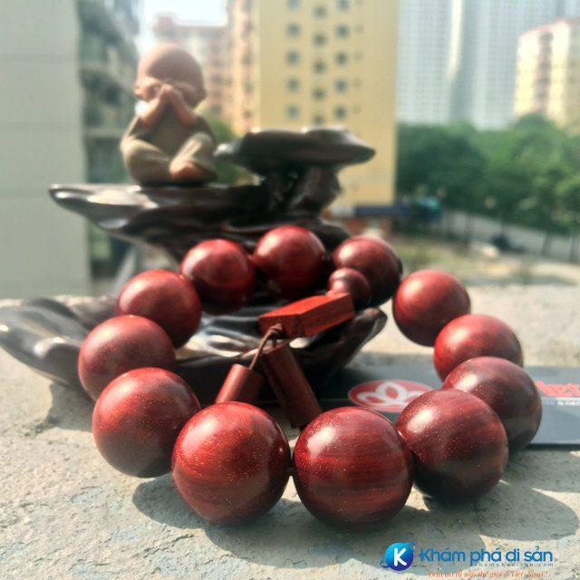Vòng gỗ tử đàn đỏ lá nhỏ Ấn Độ