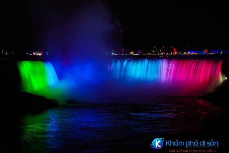Thác nước Niagara vào ban đêm