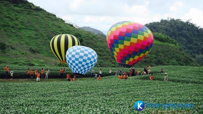 Lễ hội khinh khí cầu ở Mộc Châu
