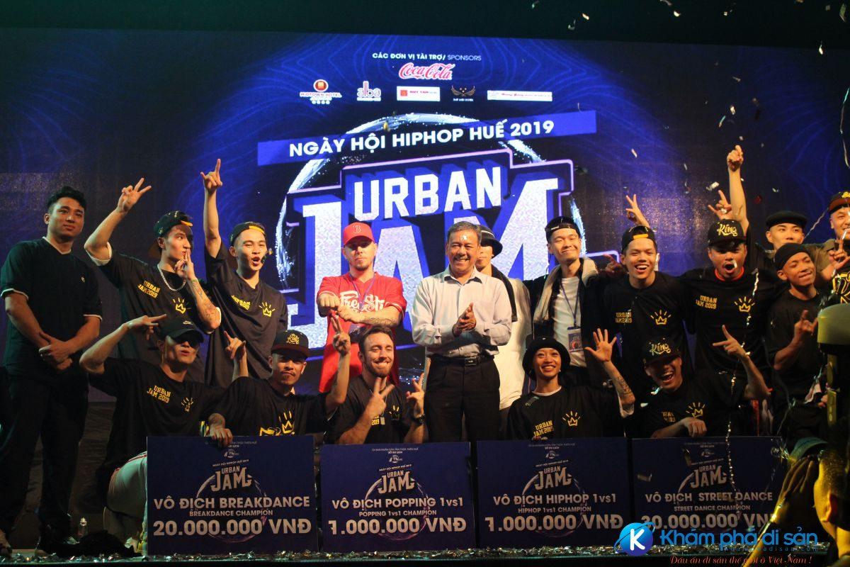 huetourism be mac Ngay hoi hiphop Urban JAM 2019 1